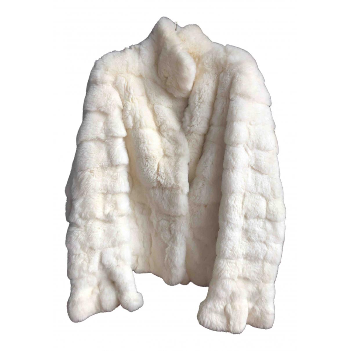 Twin Set - Veste   pour femme en lapin - blanc