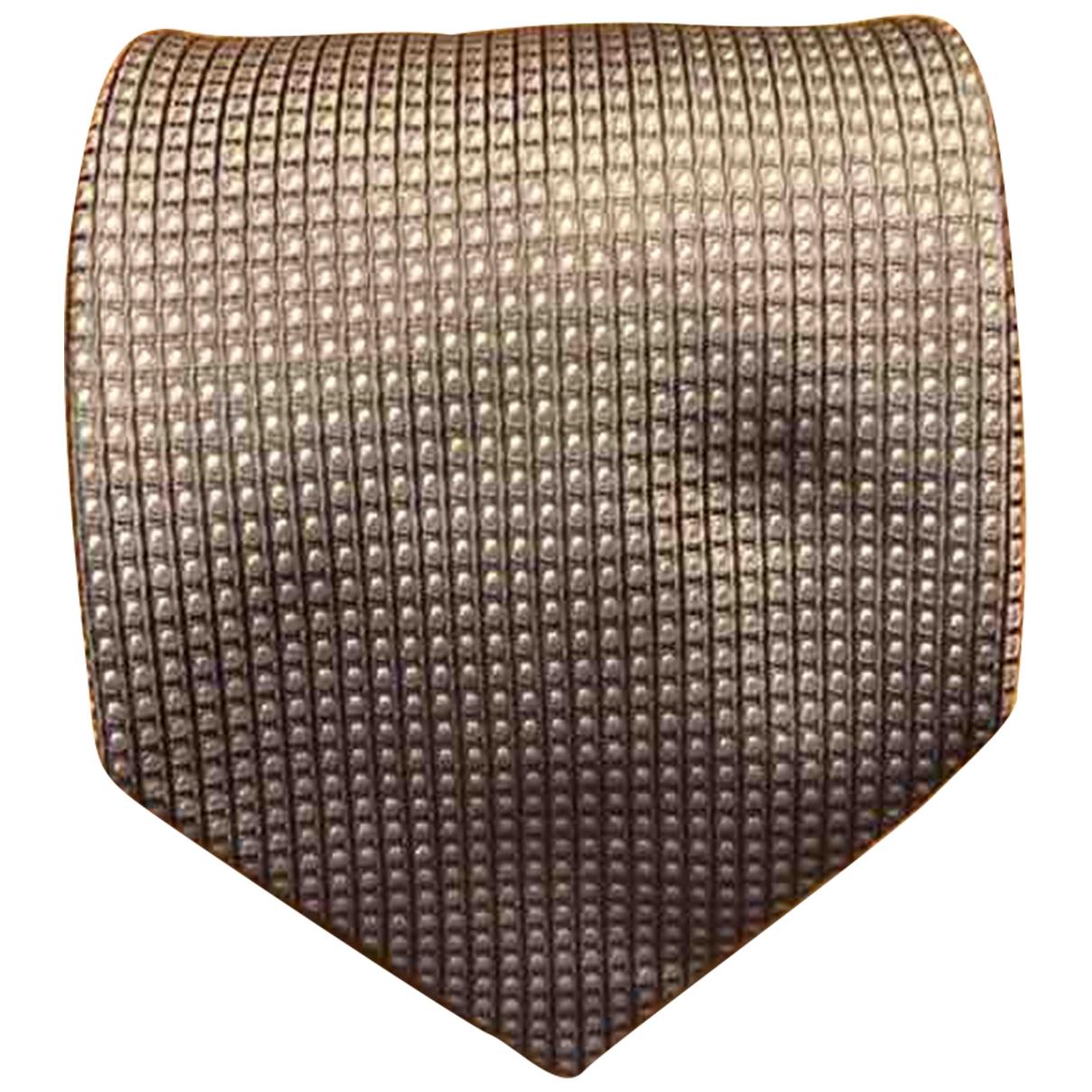 Calvin Klein \N Krawatten in  Silber Seide