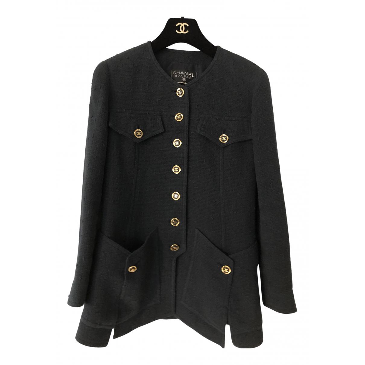 Chanel - Veste   pour femme en tweed - marine