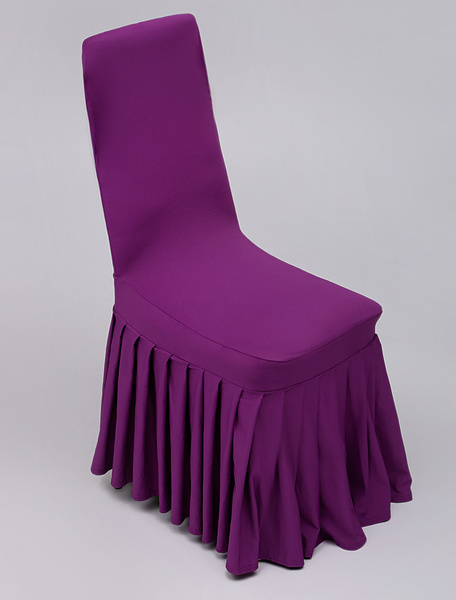 Milanoo Wedding Chair Cover With Ruffles