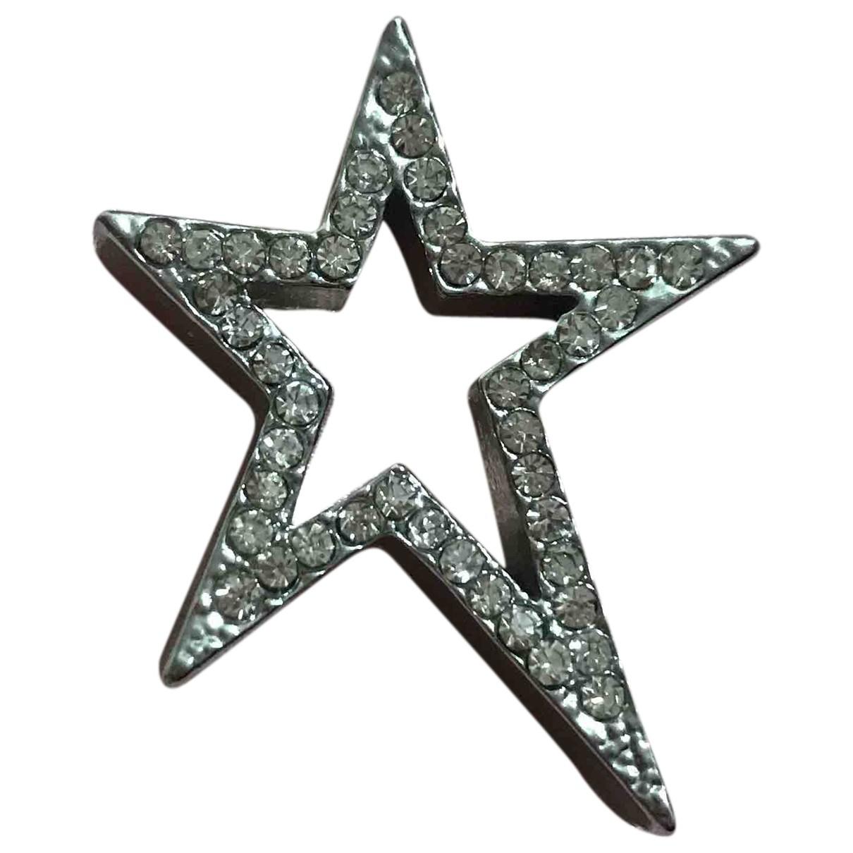 Non Signe / Unsigned Motifs Etoiles Anhaenger in  Silber Stahl