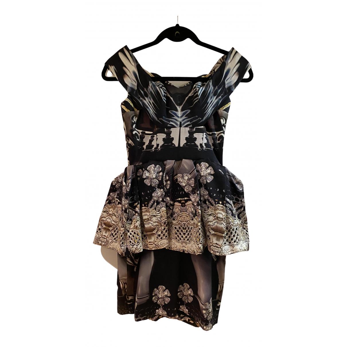 Mary Katrantzou \N Kleid in  Schwarz Seide