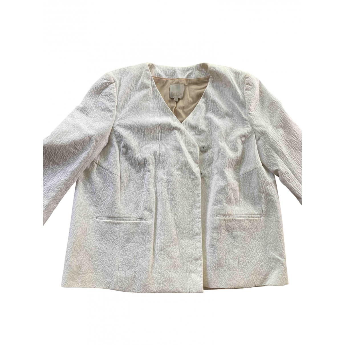 Pablo \N White Cotton jacket for Women 40 FR