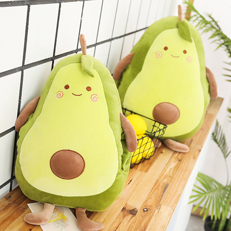 Stuffed Toy Avocado Fruit Plush Toy Avocado Pillow Cushion Plush Toys For Home Decoration Sofa