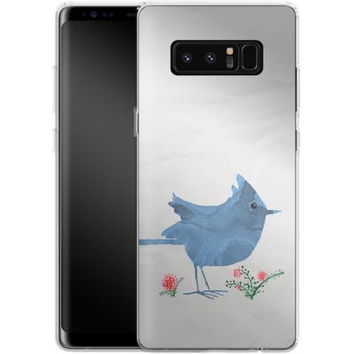 Samsung Galaxy Note 8 Silikon Handyhuelle - Watercolour Bird White von caseable Designs