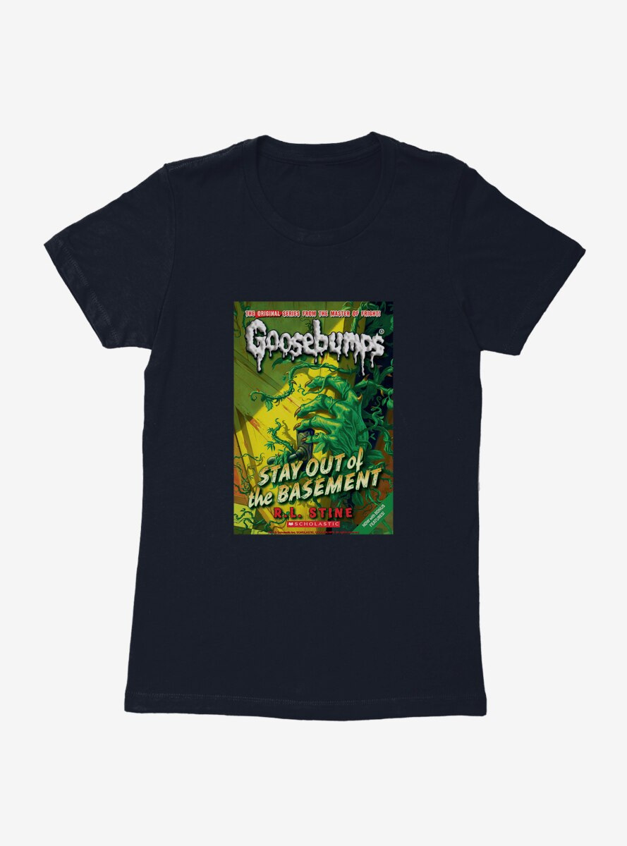 Goosebumps Stay Out Of The Basement Book Womens T-Shirt
