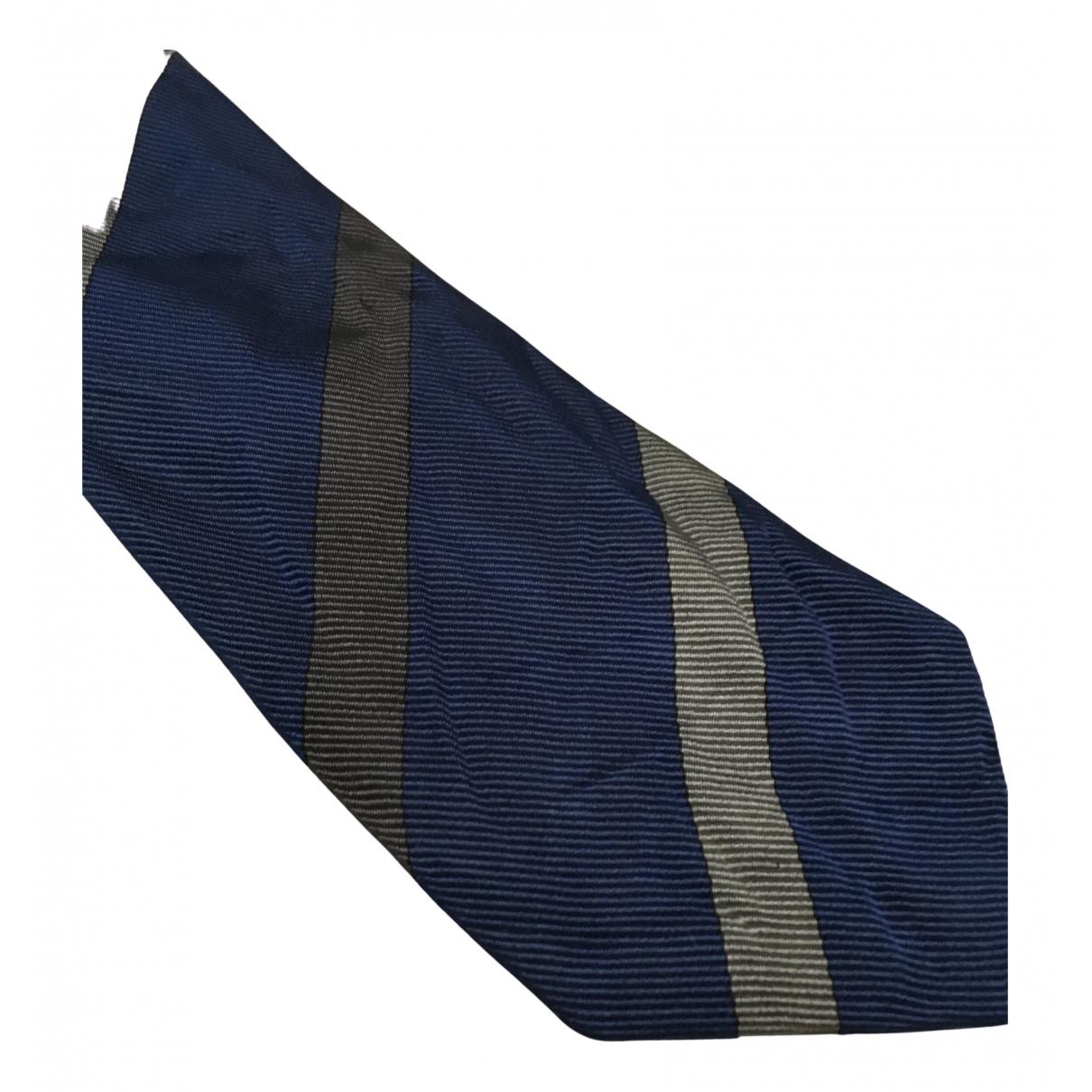 Burberry N Blue Silk Ties for Men N