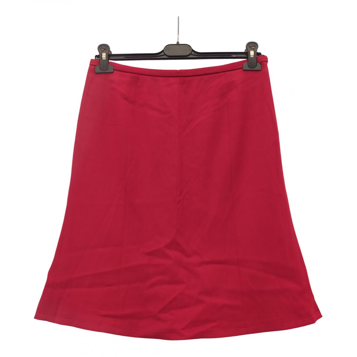 Armani Collezioni - Jupe   pour femme en laine - rouge