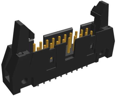 TE Connectivity , AMP-LATCH, 20 Way, 2 Row, Straight PCB Header