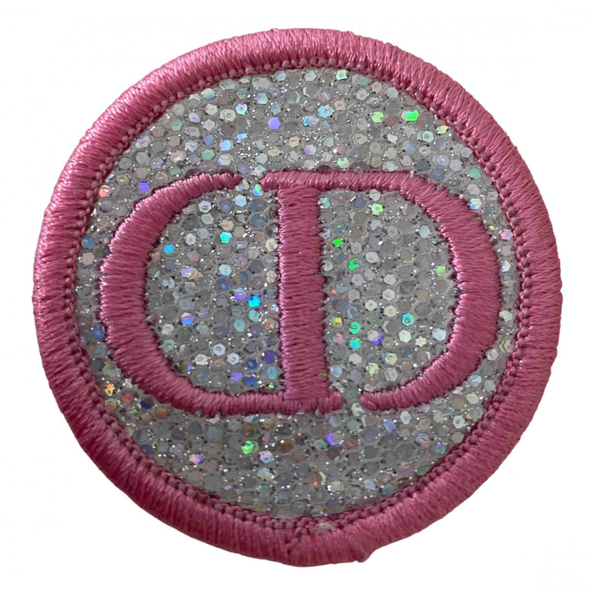 Dior - Broche Monogramme pour femme en toile - argente