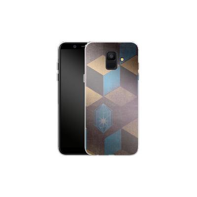 Samsung Galaxy A6 Silikon Handyhuelle - Cubes Gems von Brent Williams