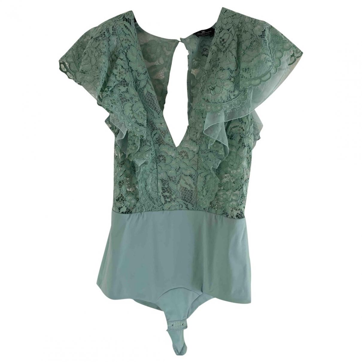 Elisabetta Franchi \N Green Lace  top for Women 42 IT