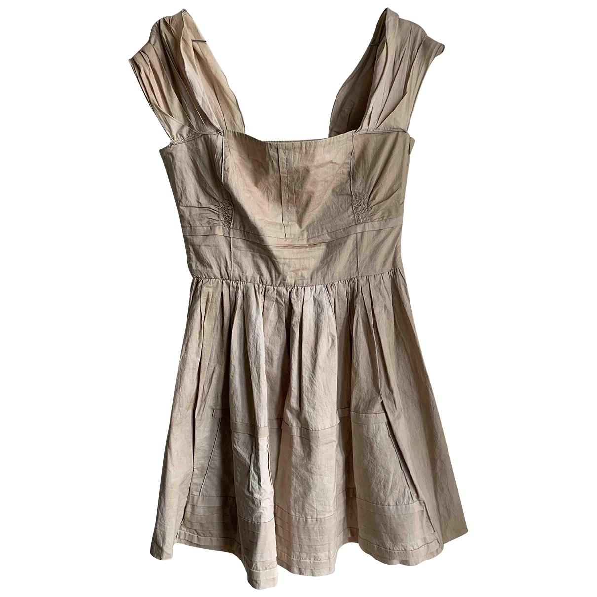 Miu Miu - Robe   pour femme en coton - beige