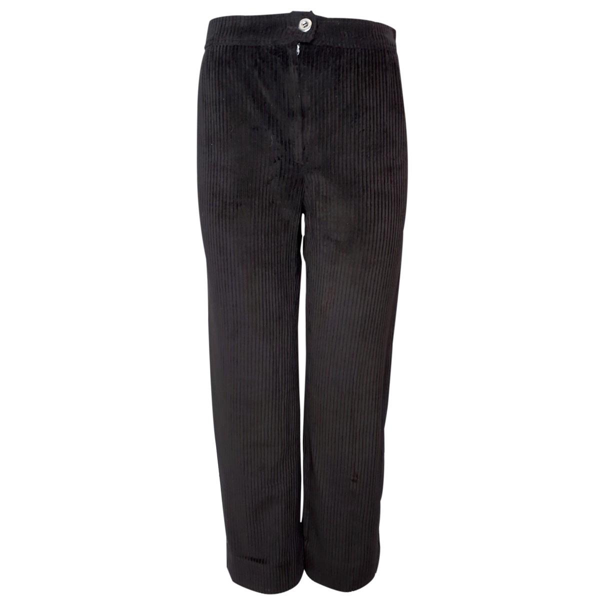 Courrèges \N Brown Velvet Trousers for Women 38 FR