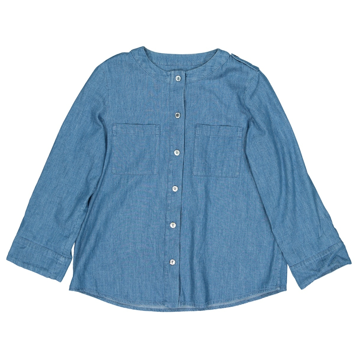 Apc - Top   pour femme en coton - bleu