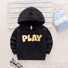 Toddler Boys Letter Graphic Hoodie