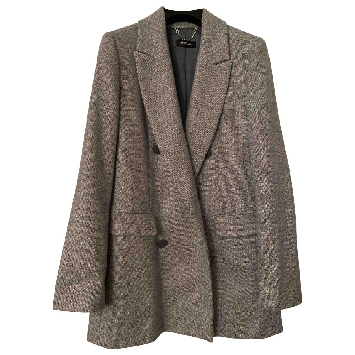 Max & Co \N Jacke in  Grau Wolle