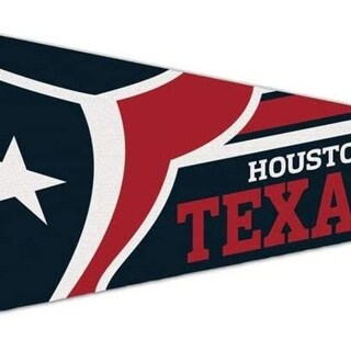 Houston Texans Logo Premium Pennant Felt Wool New!! Free Ship 12X30 Inches - M (M)