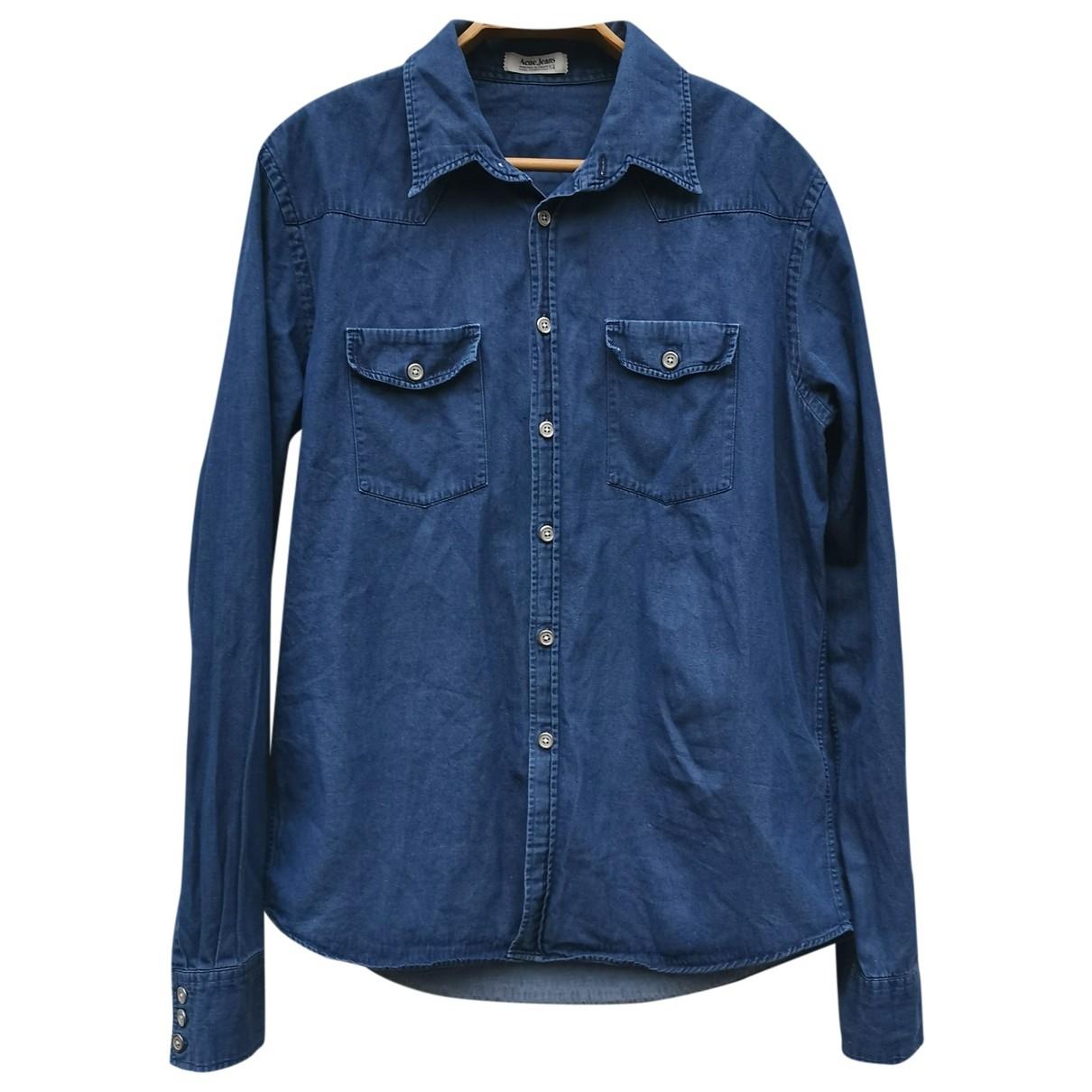 Acne Studios \N Hemden in  Blau Denim - Jeans