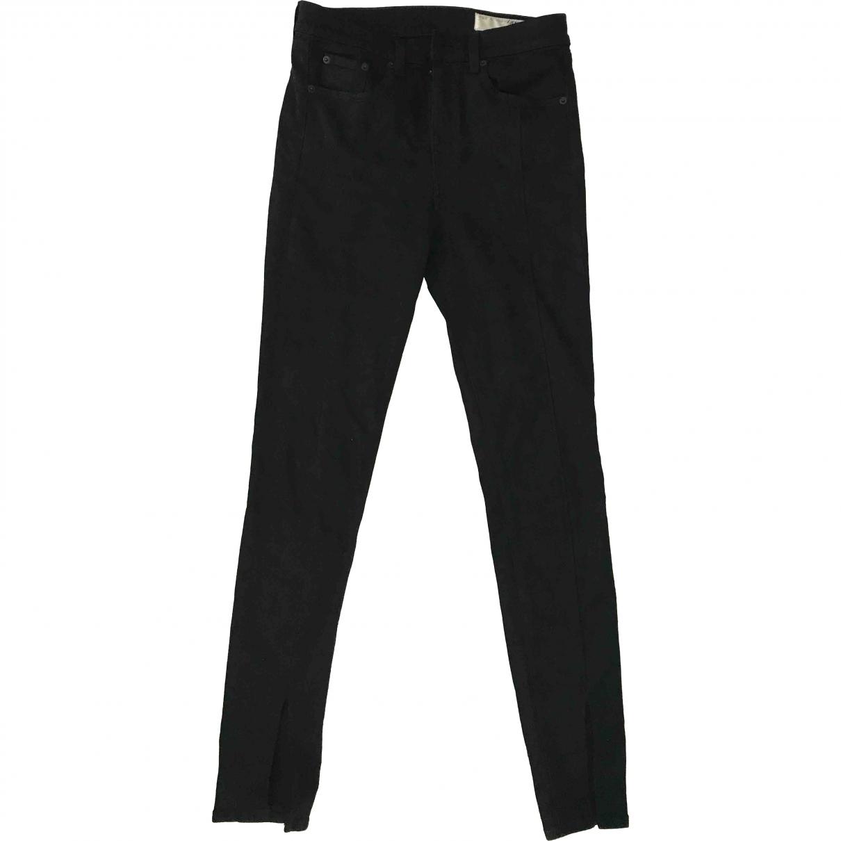 Rag & Bone \N Black Cotton - elasthane Jeans for Women 27 US