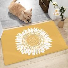 Sunflower Print Floor Mat