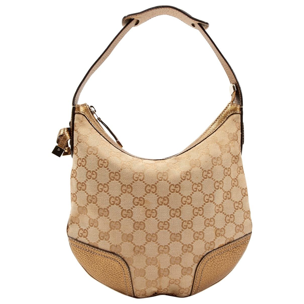 Gucci \N Gold Cloth handbag for Women \N
