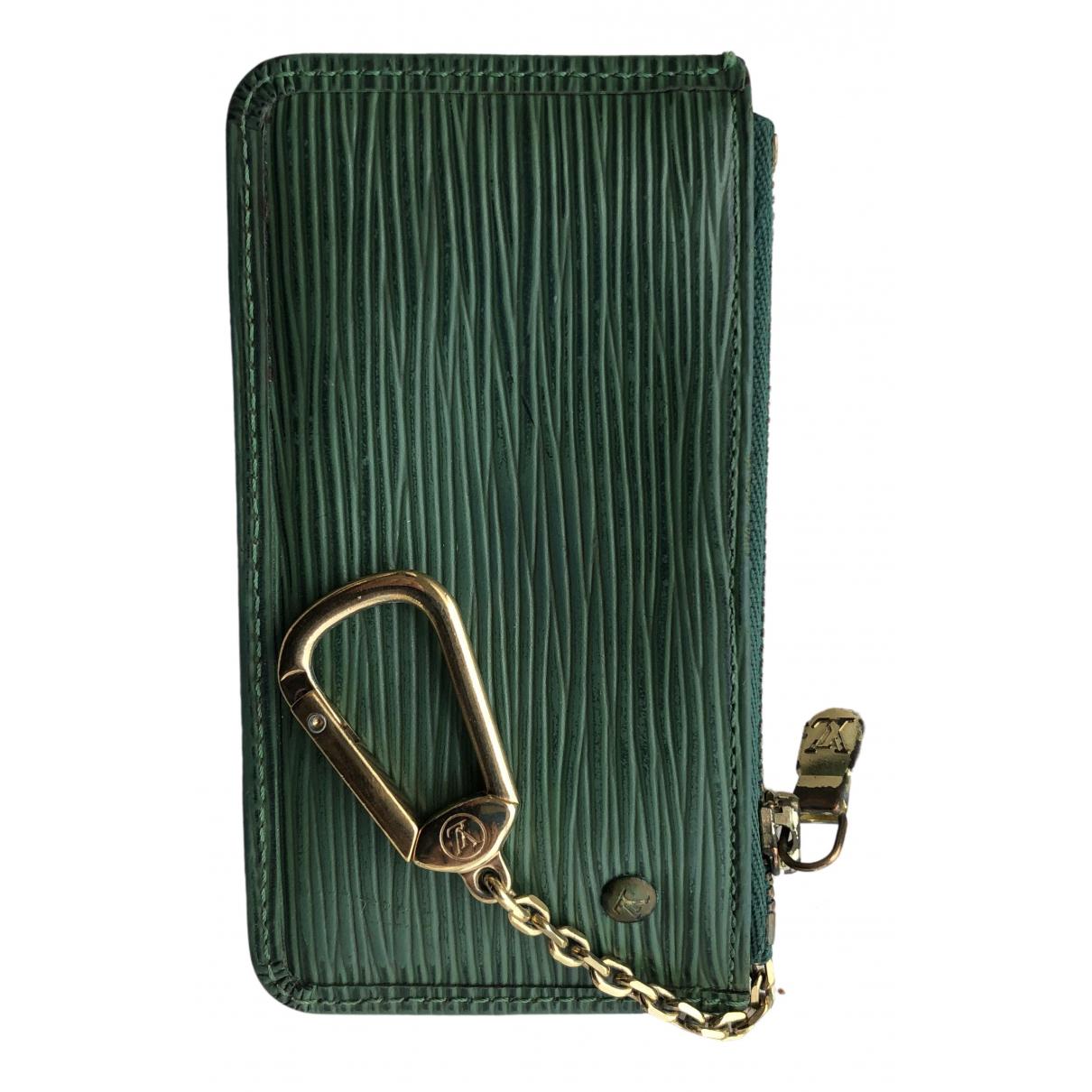 Louis Vuitton N Green Cloth Purses, wallet & cases for Women N