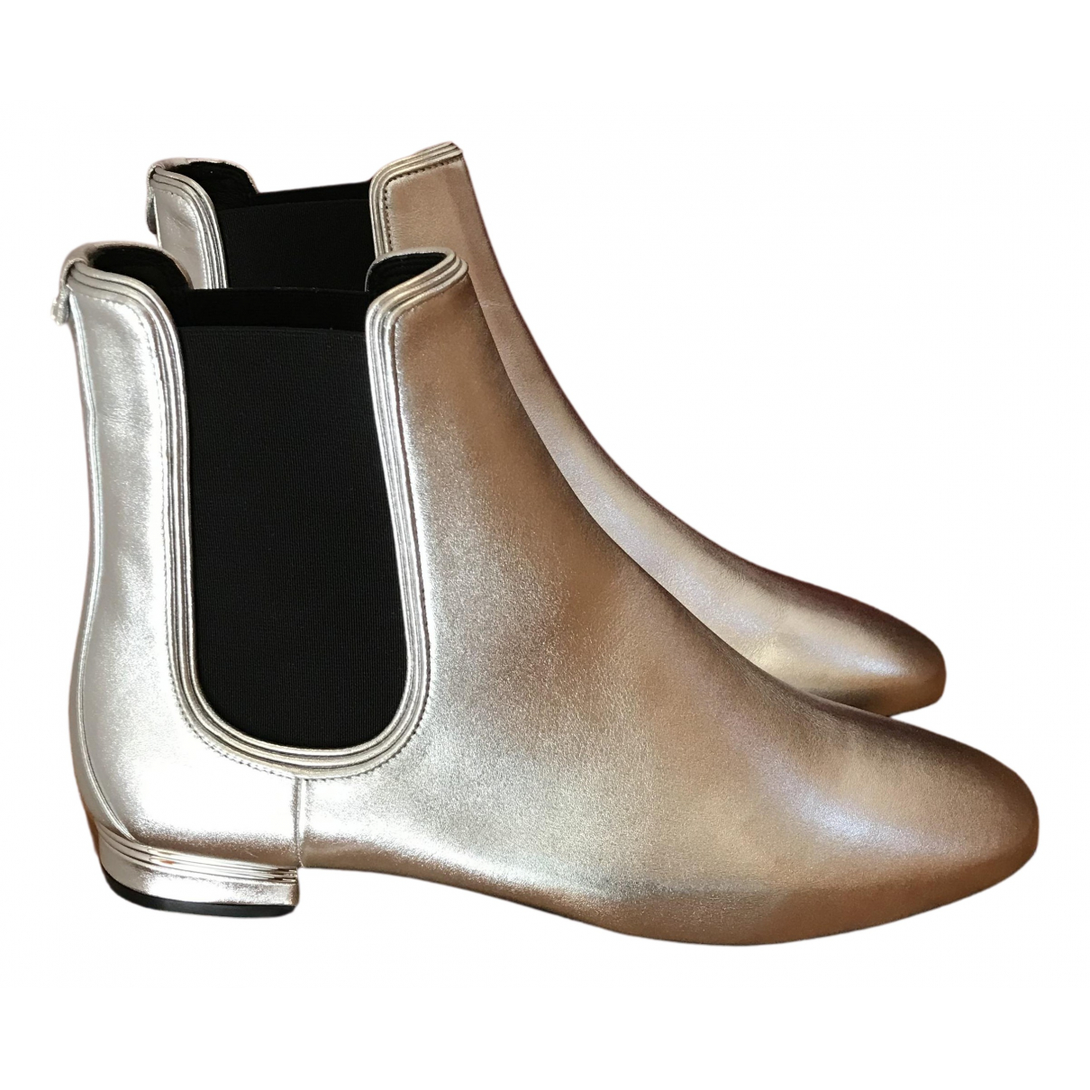 Salvatore Ferragamo N Silver Leather Ankle boots for Women 9 US