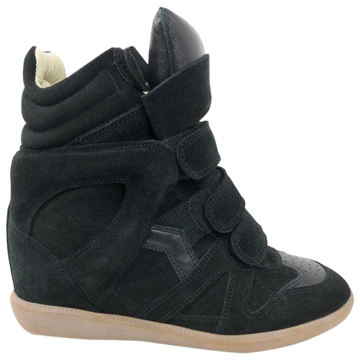 Isabel Marant Etoile \N Sneakers in  Schwarz Veloursleder