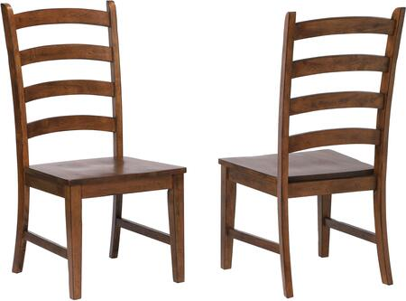 DLU-BR-C80-AM-2Simply Brook Collection Dining Chairs with Wood Construction  Ladder Open Back  Stretcher and Tapered Legs  in Amish