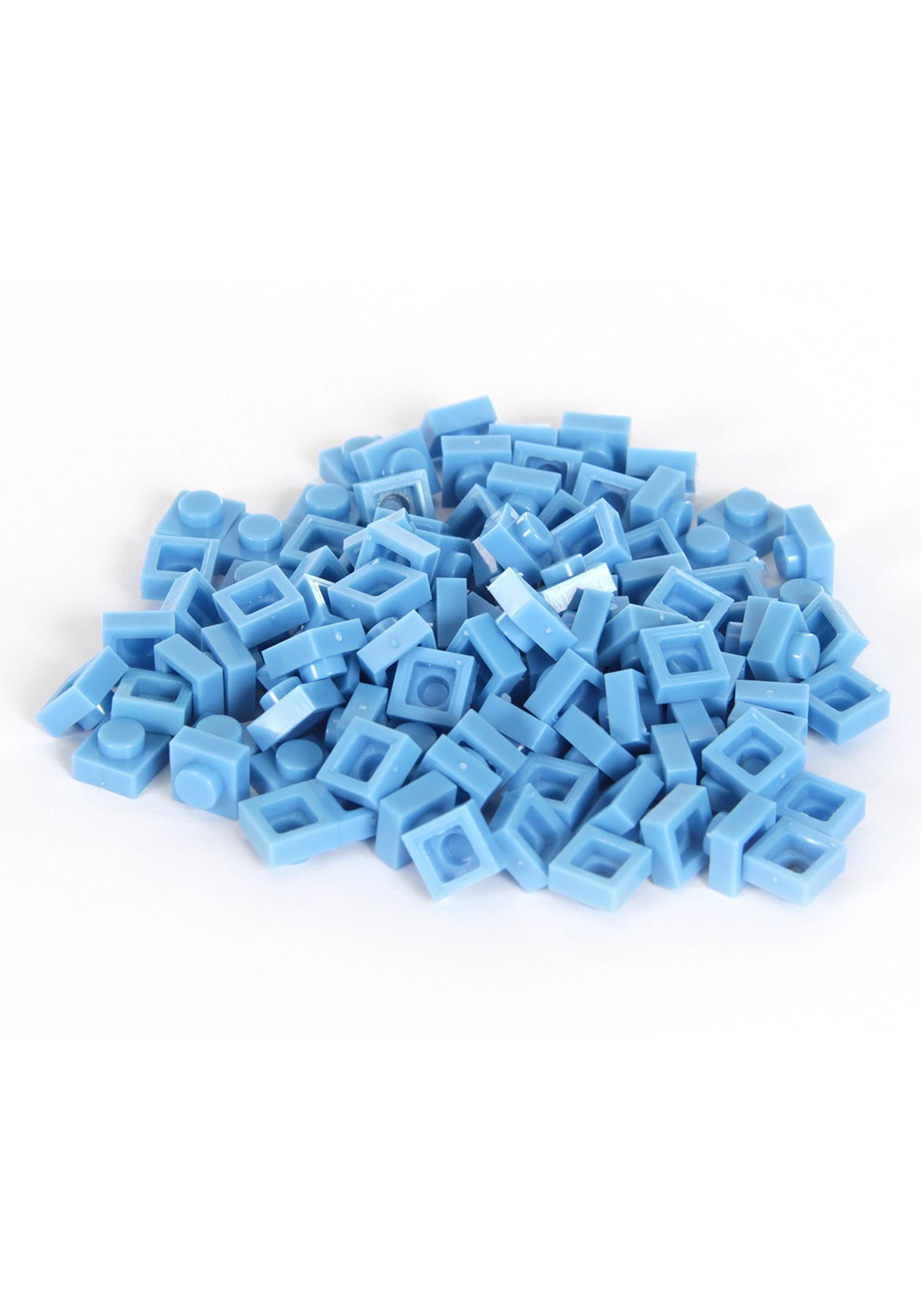 Light Blue Bricky Blocks 100 Pieces 1x1