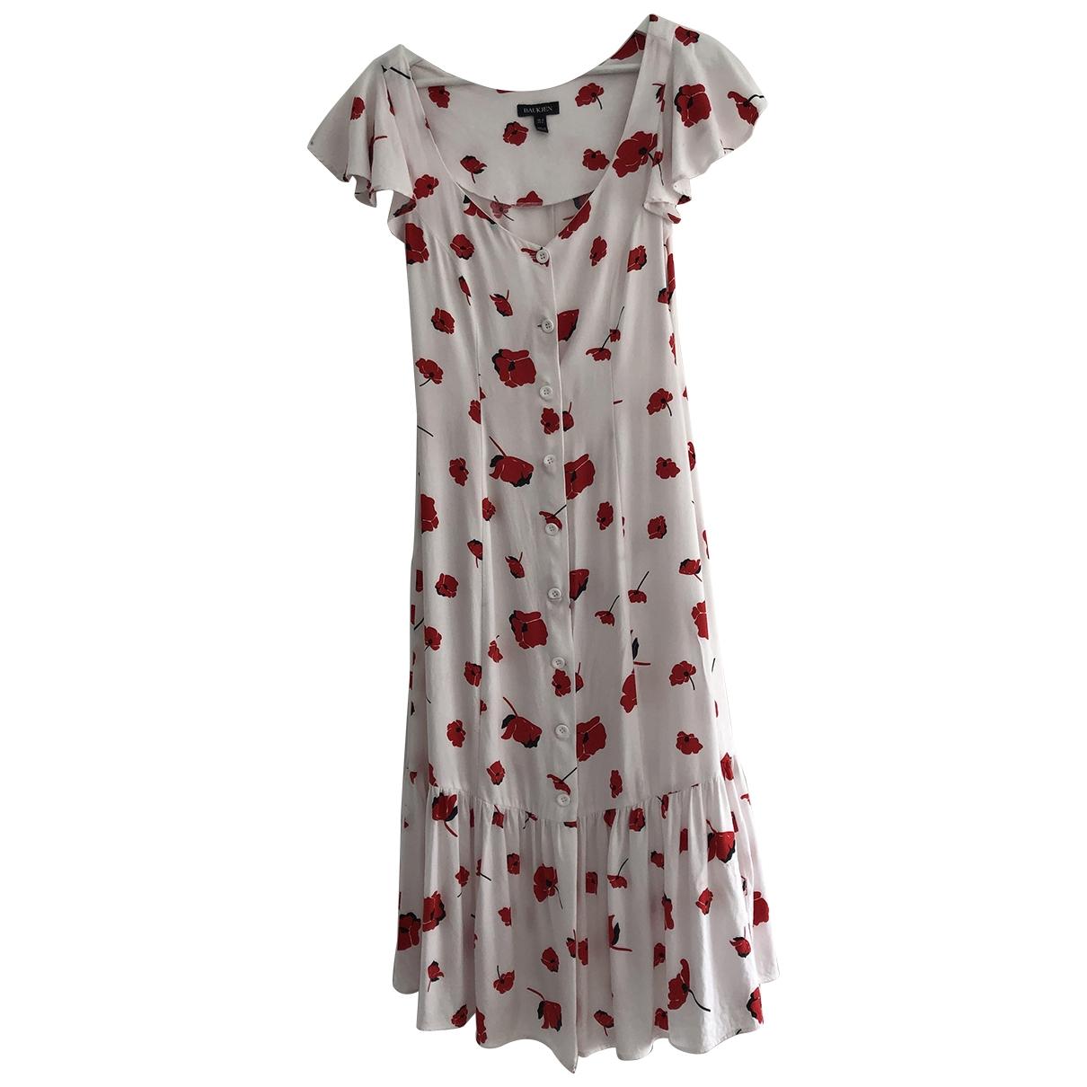 Baukjen \N Kleid in  Rot Viskose