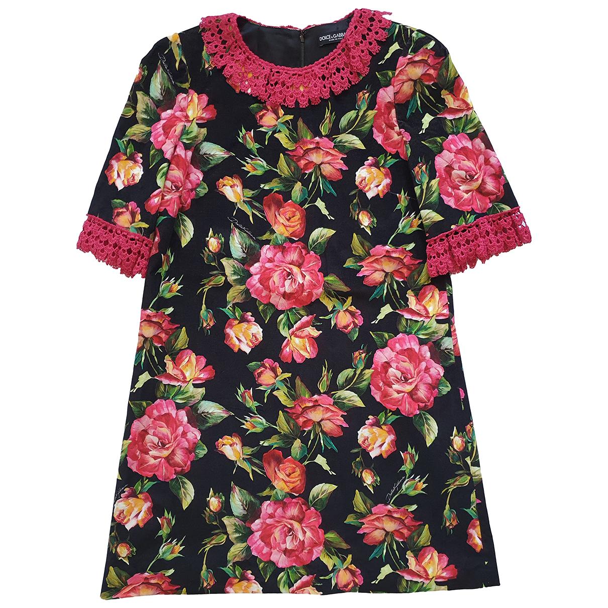 Dolce & Gabbana \N Multicolour Velvet dress for Women 42 IT