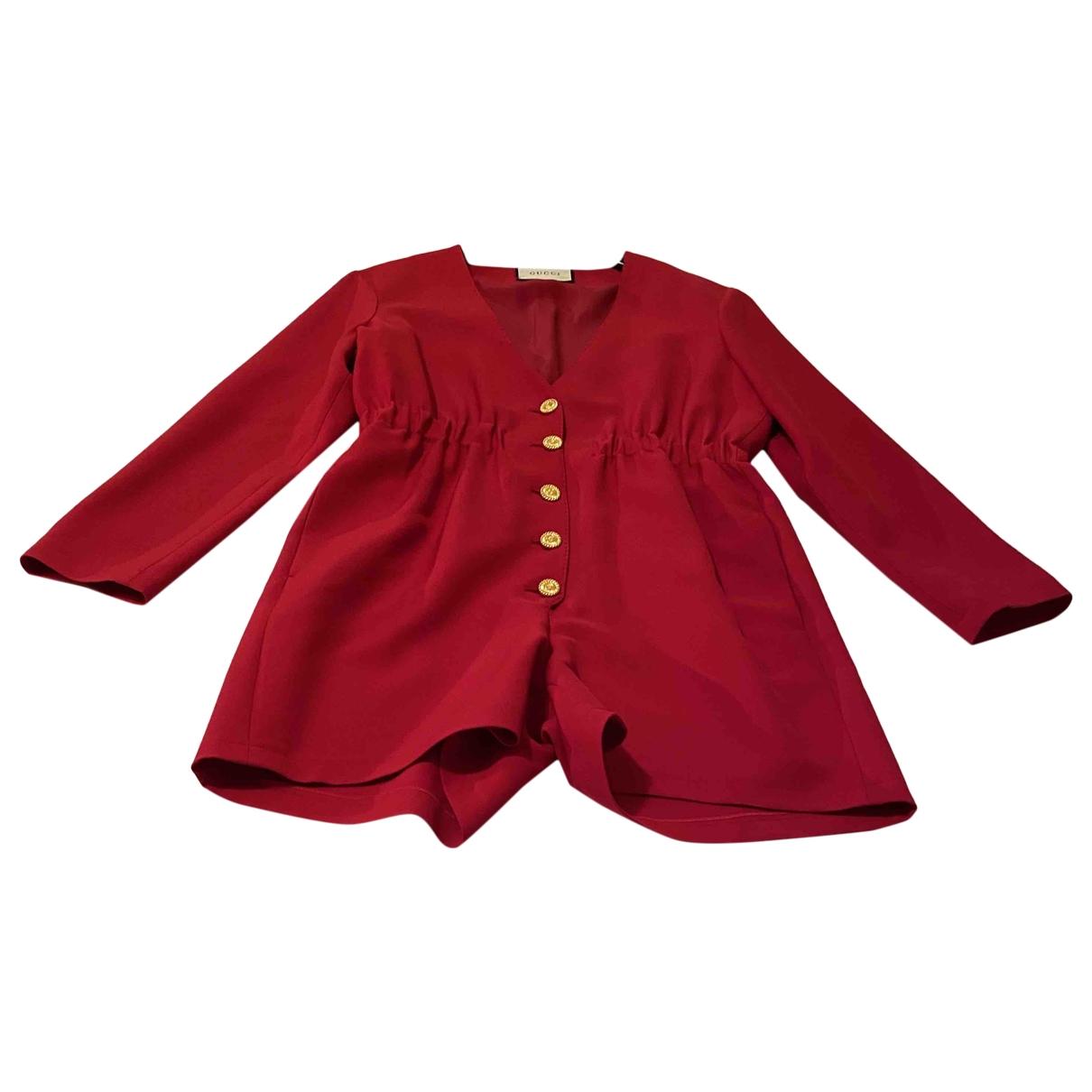 Gucci - Combinaison   pour femme en laine - rouge