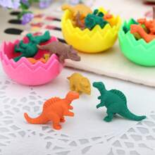 8pcs Dinosaur Shaped Eraser