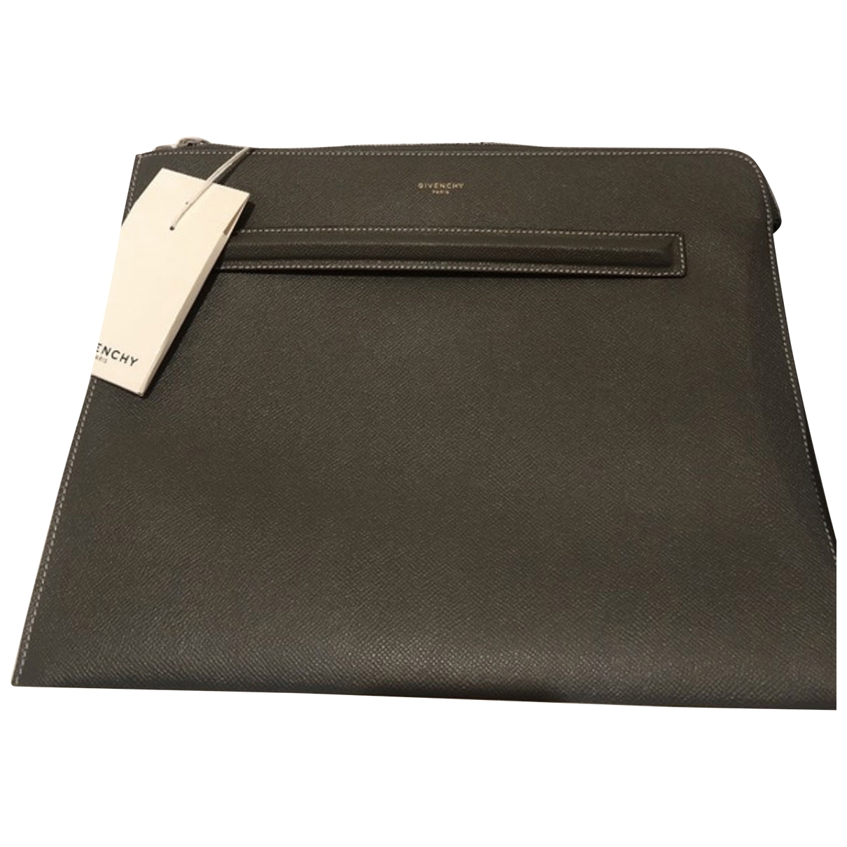 Givenchy \N Grey Leather Small bag, wallet & cases for Men \N
