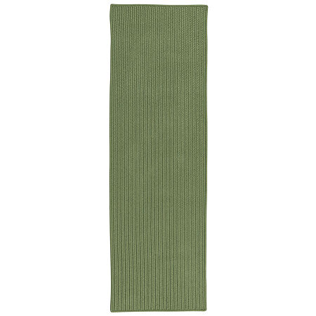 Colonial Mills Deck Porch And Patio Braided Rectangular Reversible Runner, One Size , Green