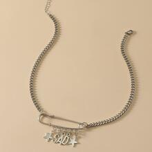 Halskette mit Stern Anhaenger