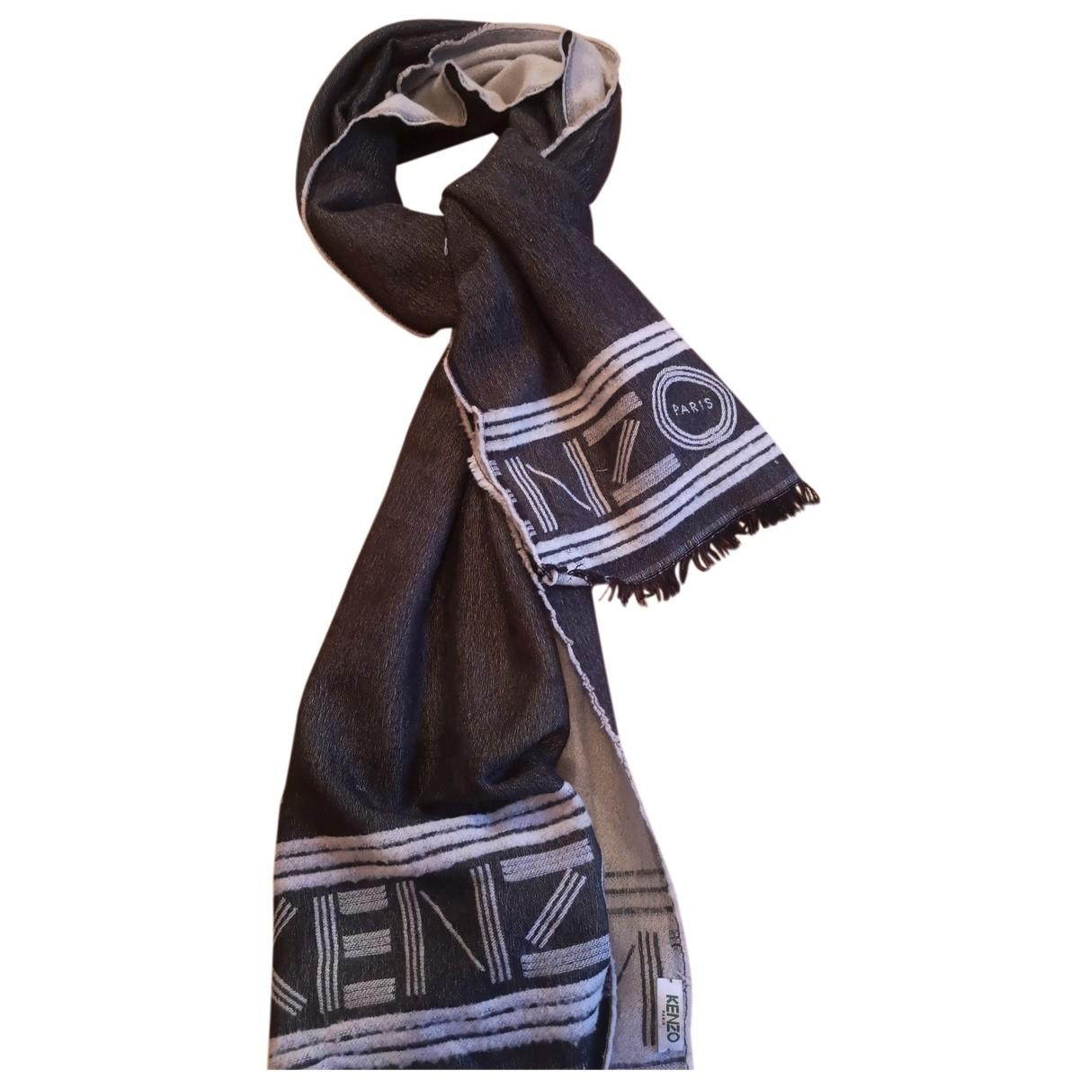 Kenzo \N Anthracite Cashmere scarf & pocket squares for Men \N