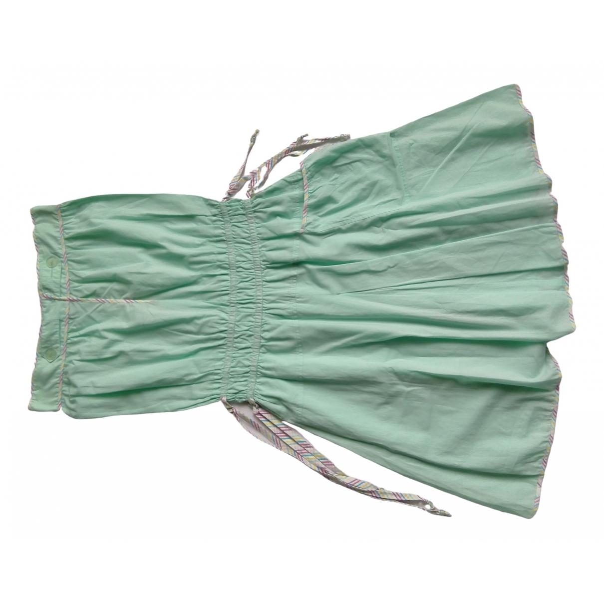 American Retro - Robe   pour femme en coton - vert