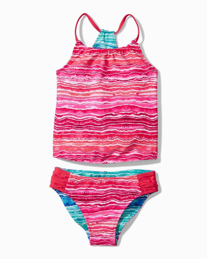Little Girls' Sunkissed Tropics Stripe Tankini Set