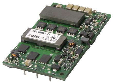 Cosel CQS 132W Isolated DC-DC Converter PCB Mount, Voltage in 18 → 36 V dc, Voltage out 3.3V dc