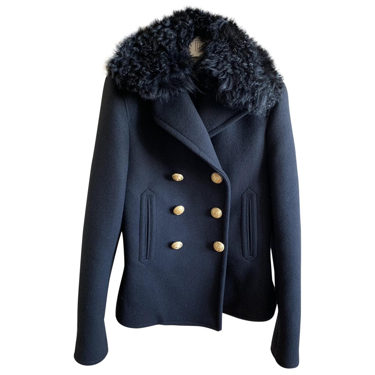 Paco Rabanne - Manteau   pour femme en laine - noir