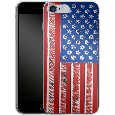Apple iPhone 6s Plus Silikon Handyhuelle - American Flag Colour von caseable Designs