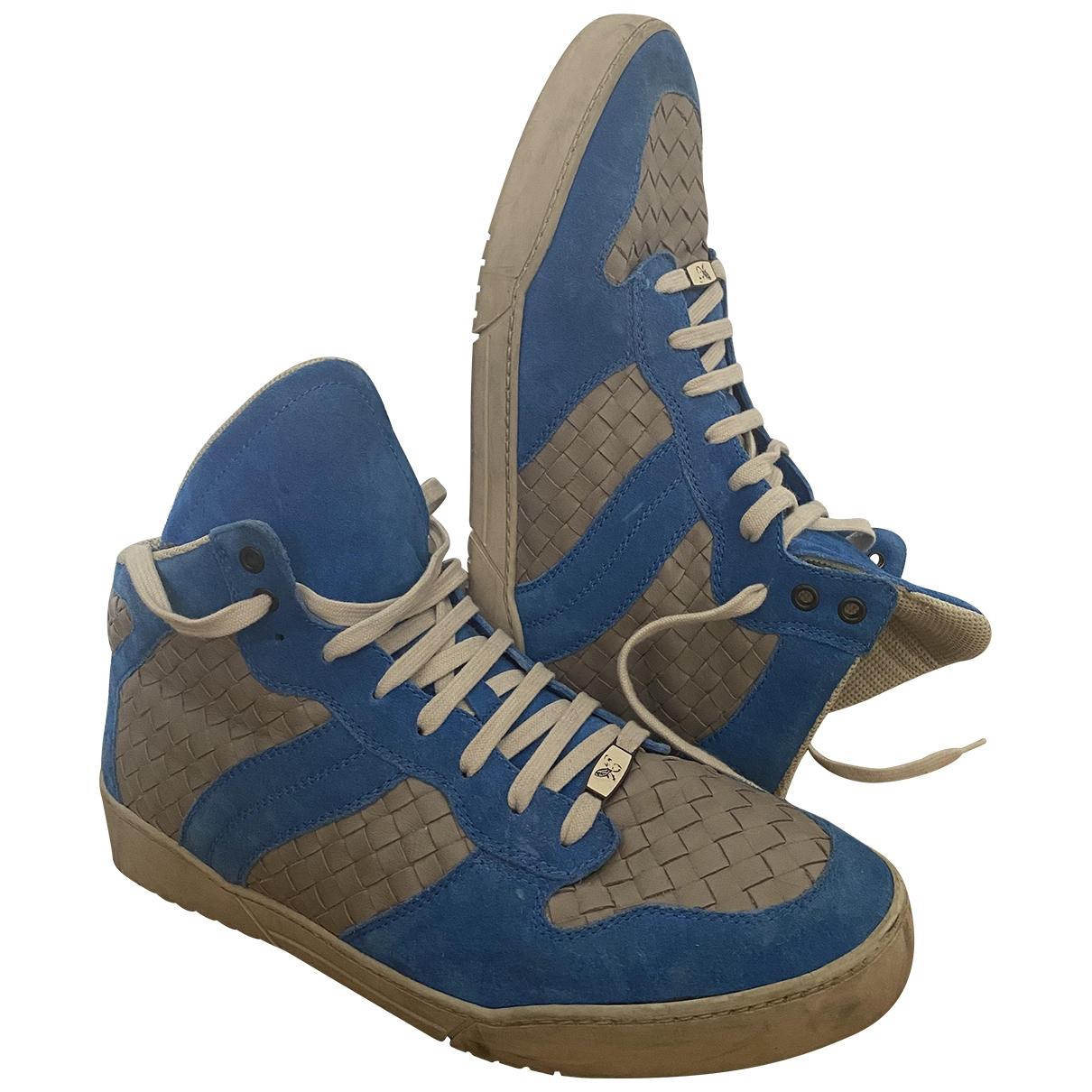 Bottega Veneta - Baskets   pour homme en cuir - bleu