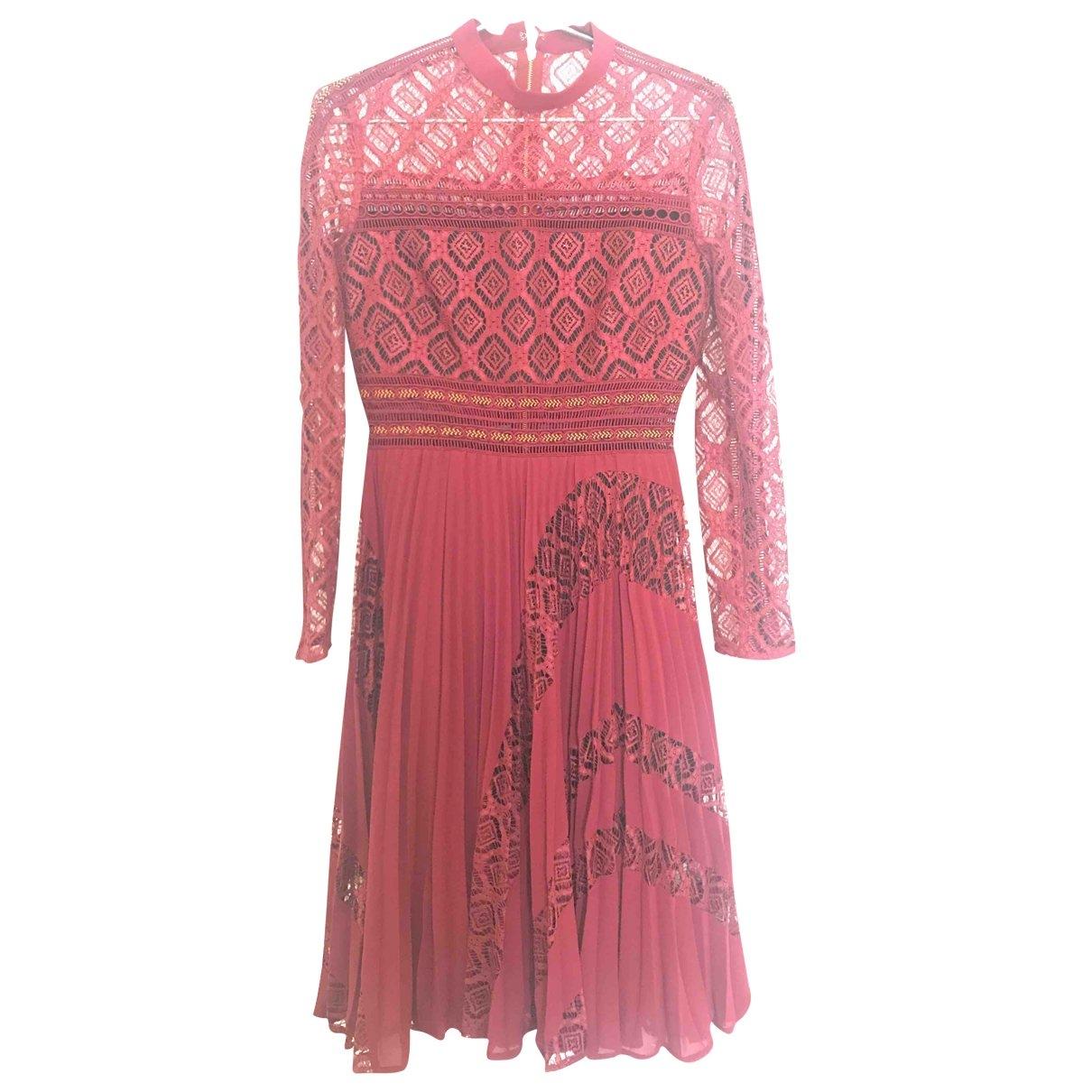Self Portrait \N Burgundy dress for Women 8 UK