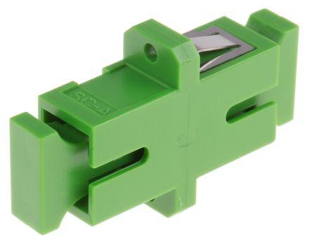 RS PRO SC to SC Single Mode Simplex Fibre Optic Adapter, Green