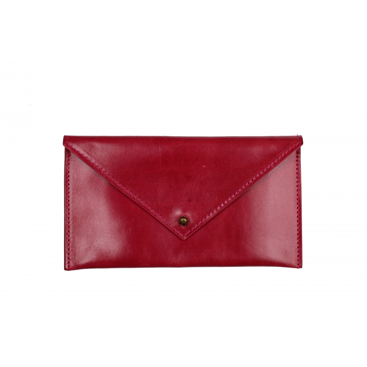 La Portegna \N Clutch in  Rot Leder