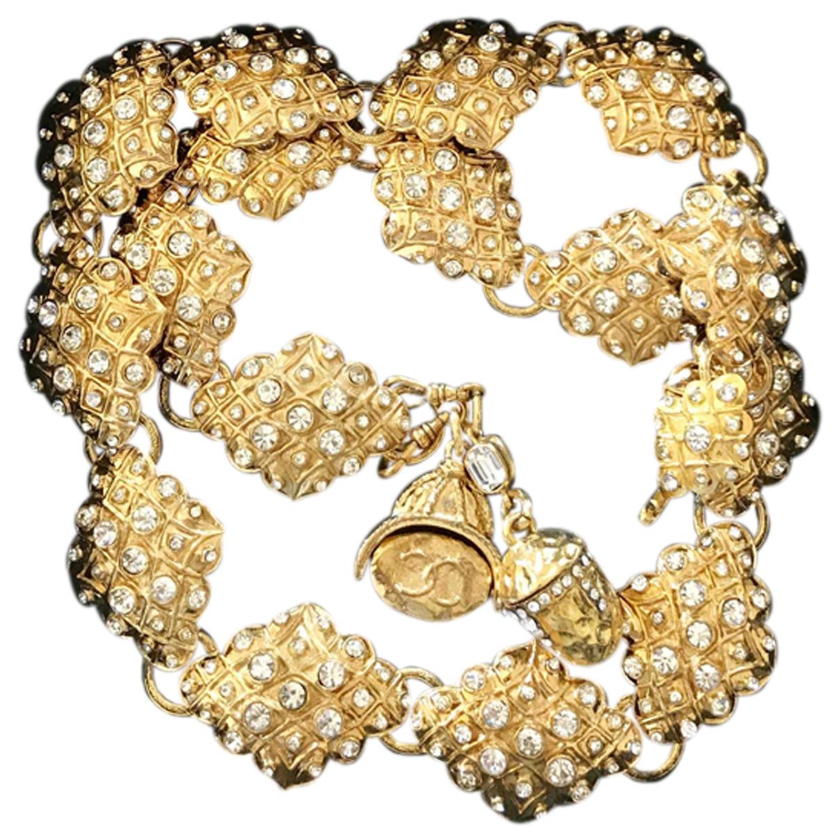 Chanel \N Gold Metal belt for Women 75 cm