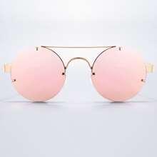 Sonnenbrille mit rundem Design